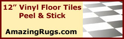 12 Inch Square Vinyl Floor Tiles Peel and Stick